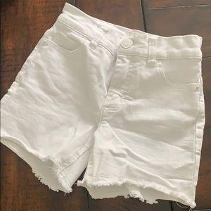 Justice High-Waist White Jean Short